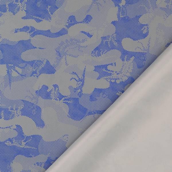 Bilde av Refleksstoff, tynn - vind- & vannavvisende - blå-sølv