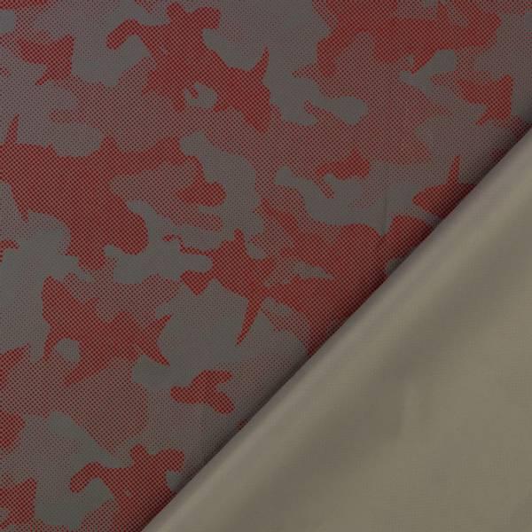 Bilde av Refleksstoff, tynn - vind- & vannavvisende - rød-sølv