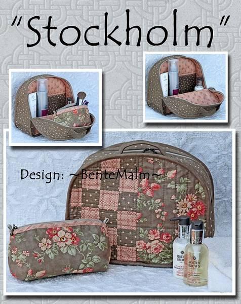 Bilde av Bente Malm 160 - Stockholm - toalettmappe & sminkepung