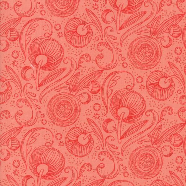 Bilde av Blushing Peonies - 3 cm blomstermotiv, coral
