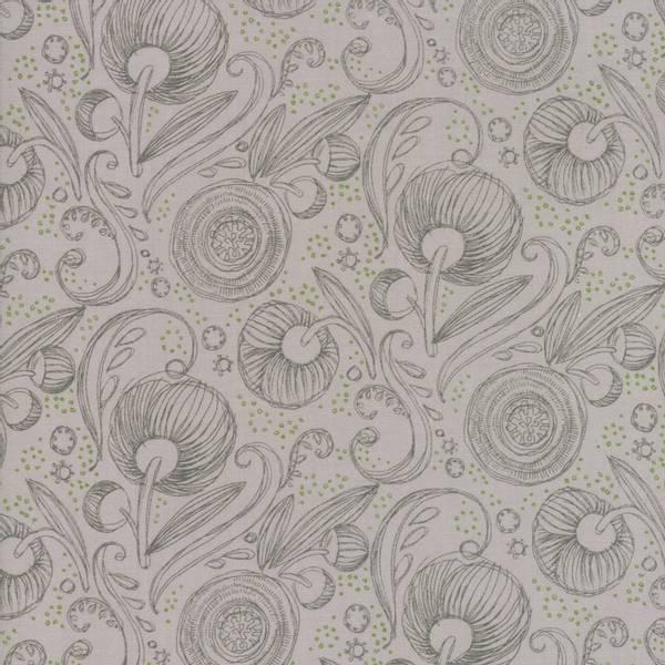 Bilde av Blushing Peonies - 3 cm blomstermotiv, grå