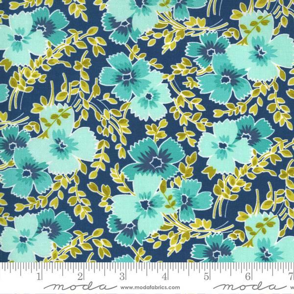 Bilde av Flowers for Freya - 3-4 cm aqua blomst på blå