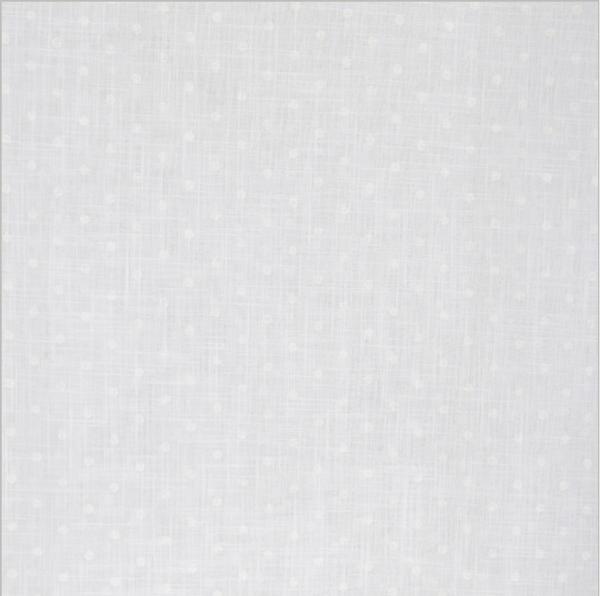 Bilde av Dot - bomullsvoile, 5mm hvite prikker på hvit