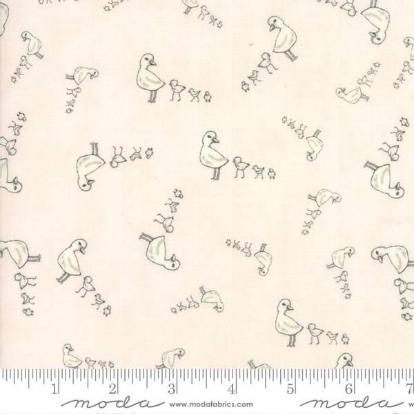Bilde av 50 cm Darling Little Dickens - 2x4 cm hvit andefamilie på lys ro