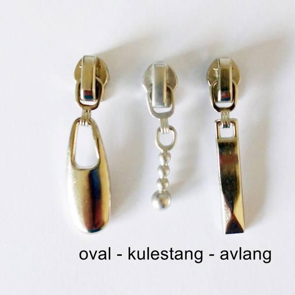 Bilde av Glidere, sølvfarget - til 4 mm glidelås