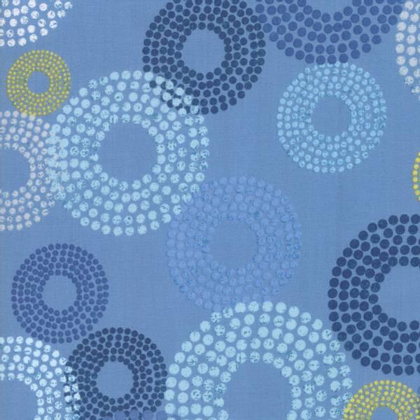 Bilde av 45 cm Breeze - 4-9 cm prikkete blå ringer på blå