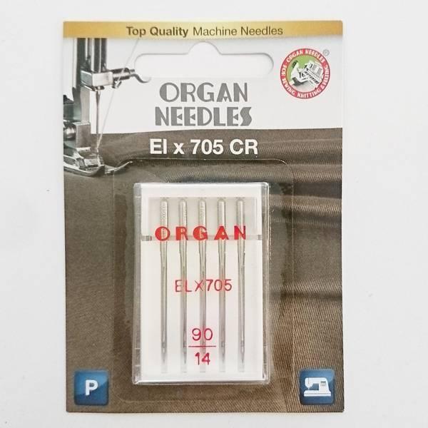 Bilde av Organ symaskinnål - ELX 705, Krom, 90/14, 5 stykk