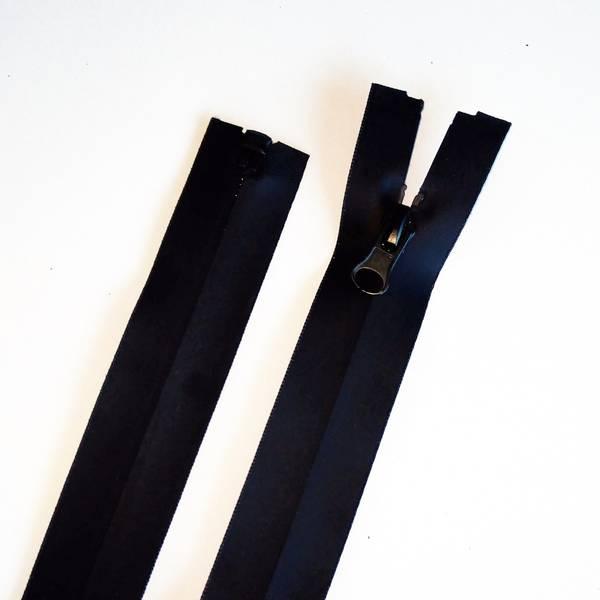 Bilde av Vannavvisende sort jakke glidelås, 6 mm delbar