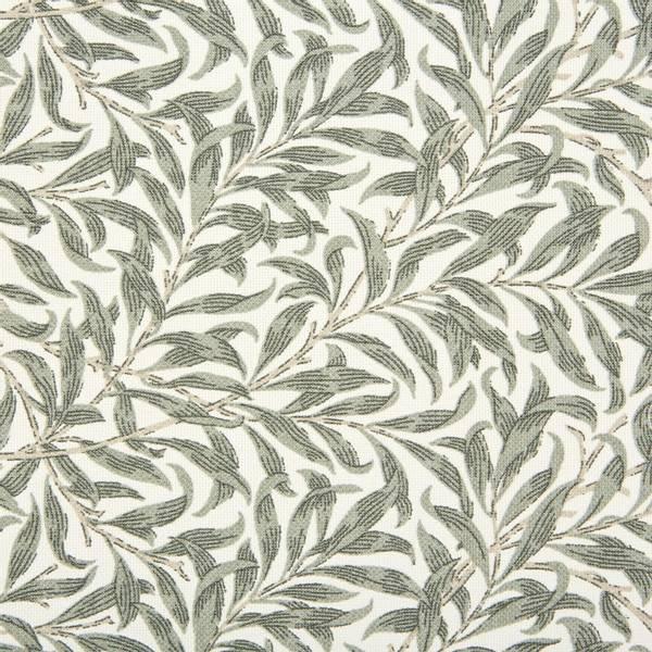 Bilde av Ramas - 3-4 cm lys kaki bladmønster på offwhite