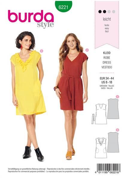 Bilde av 6221 - Burda - kort kjole