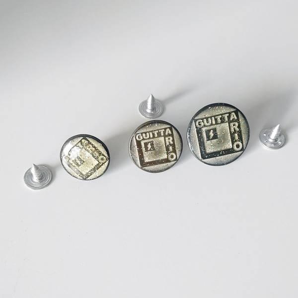 Bilde av Dongeriknapp, patentknapp - metallic m glitter