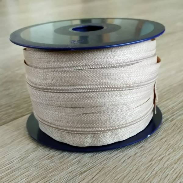 Bilde av Spiralglidelås - 4 mm metervare - beige