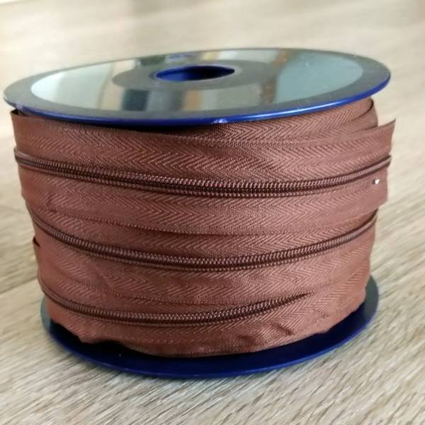 Bilde av Spiralglidelås - 4 mm metervare - brun