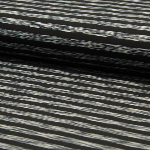 Bilde av Sportsstretch - Space dyed, sort-melange 1 cm striper