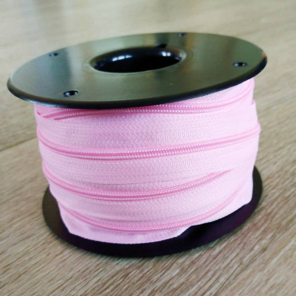 Bilde av Spiralglidelås - 4 mm metervare - rosa