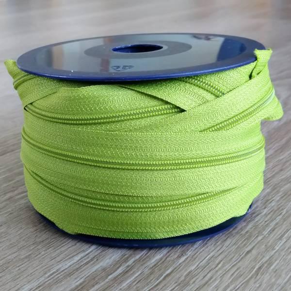Bilde av Spiralglidelås - 4 mm metervare - limegrønn