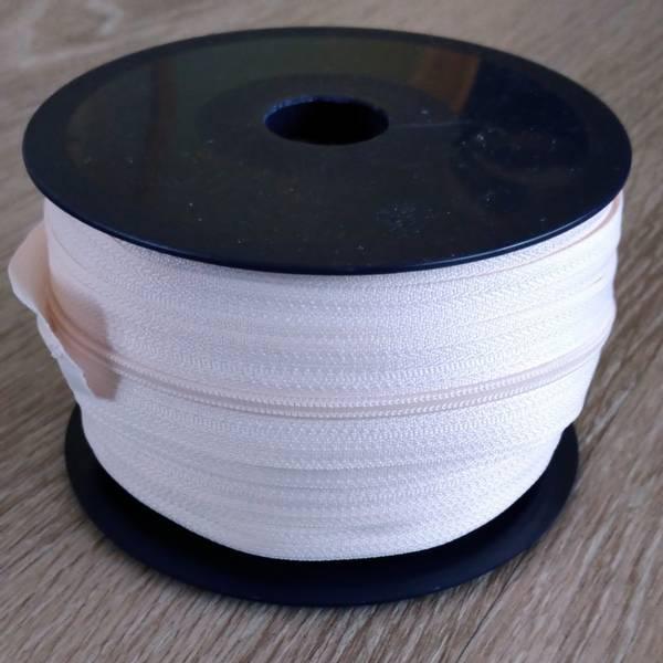 Bilde av Spiralglidelås - 4 mm metervare - natur