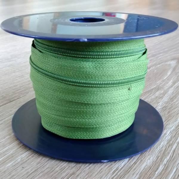 Bilde av Spiralglidelås - 4 mm metervare - grønn