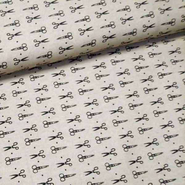 Bilde av Linlook Scissors - 2,5 cm sorte sakser på myk linfarget