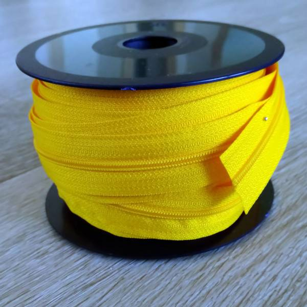 Bilde av Spiralglidelås - 4 mm metervare - gul