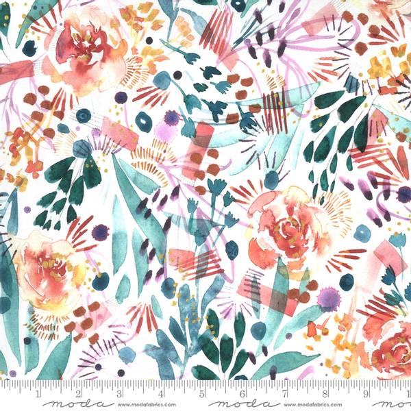 Bilde av Sunshine Soul - akvarellblomster på hvit