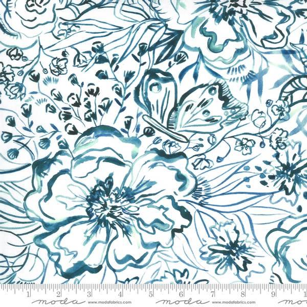Bilde av Sunshine Soul - 4-13 cm blå akvarellblomster