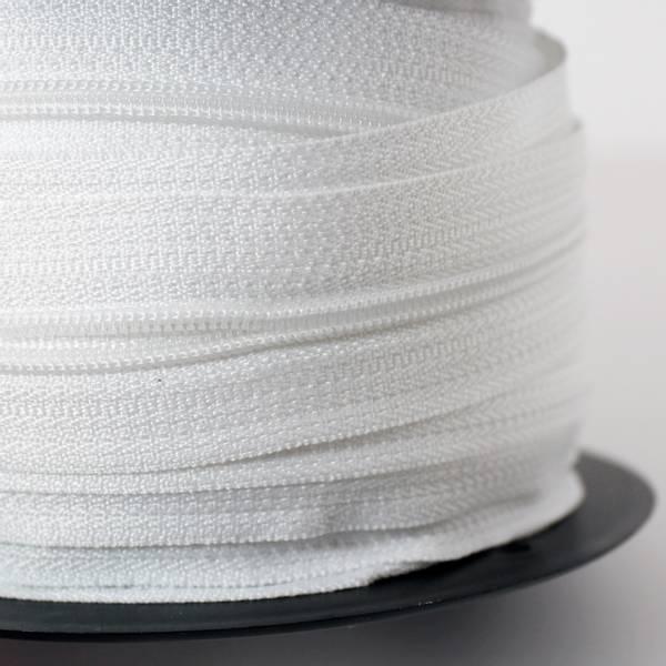 Bilde av Spiralglidelås - 4 mm metervare - hvit