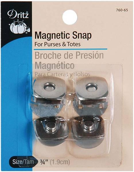 Bilde av Magnetknapp Dritz 763-65, nikkel blank, 19 mm, 2 stykk