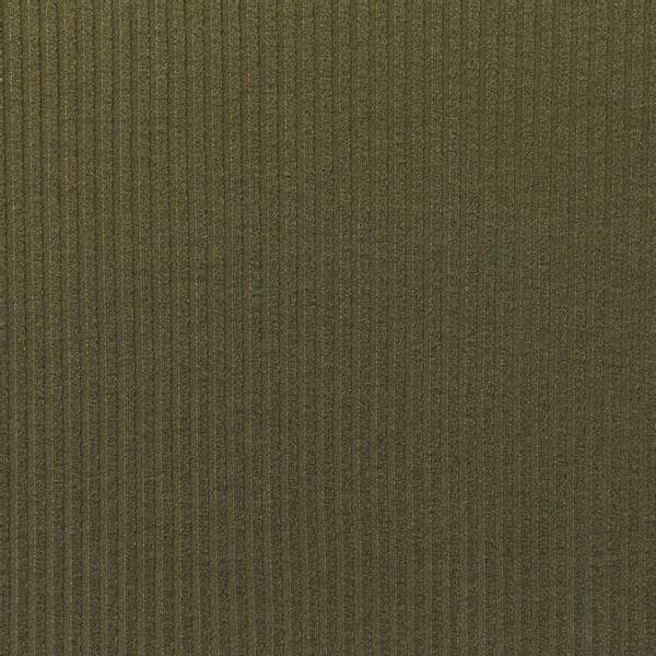Bilde av Ribbestrikket bomullsjersey - armygrønn