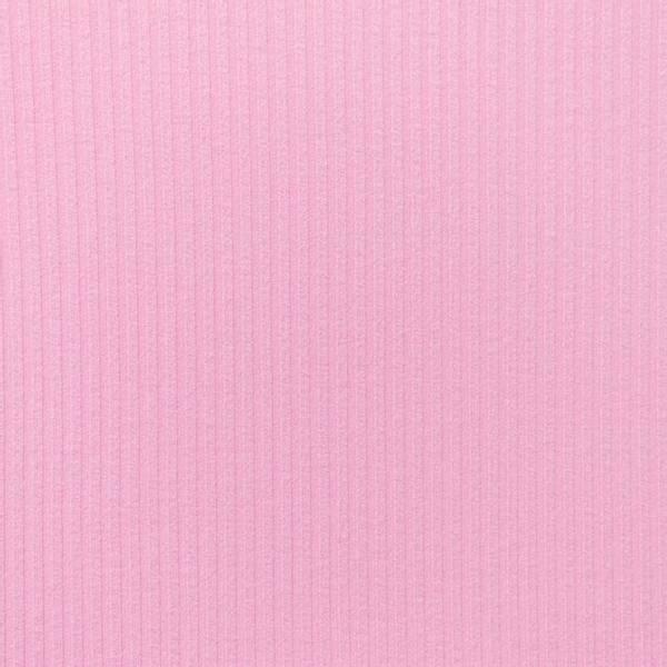 Bilde av Ribbestrikket bomullsjersey - rosa
