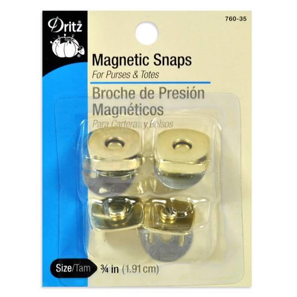 Bilde av Magnetknapp Dritz 760-35, gullfarget, 19 mm, 2 stykk