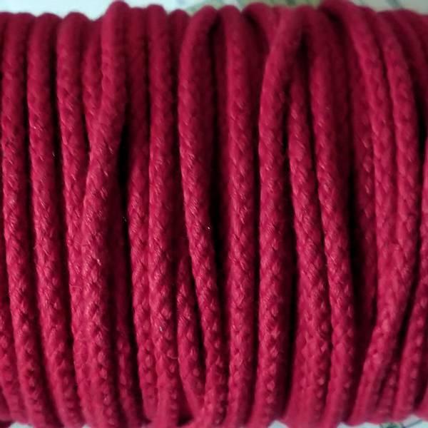Bilde av Snor, rund, 4 mm, bomull - rød