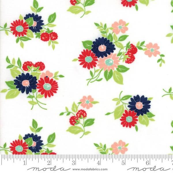 Bilde av 50 cm The Good Life - 4-6 cm flerfargete blomster på hvit