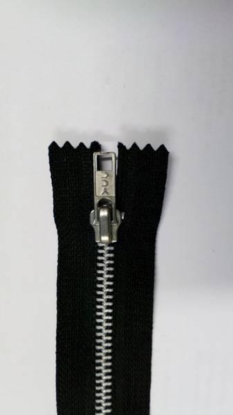 Bilde av Metallglidelås, ikke delbar, 6 mm, sort/blank