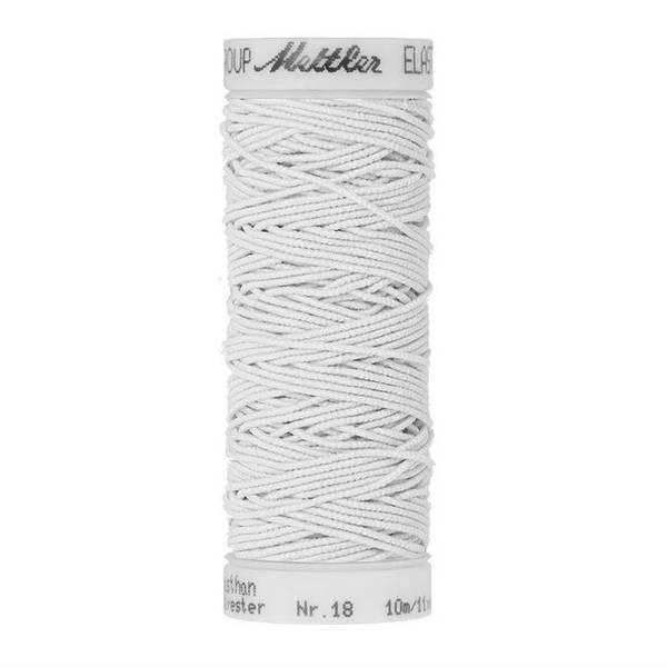 Bilde av Elastisk tråd, fv. 2000 hvit, Mettler, 10 m