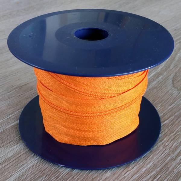 Bilde av Spiralglidelås - 4 mm metervare - oransje