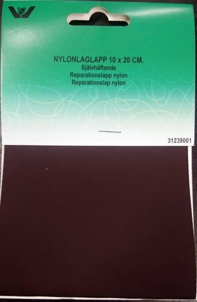Bilde av Reparaturlapper - selvklebende - nylon, 10 x 20 cm stor, mørkbru