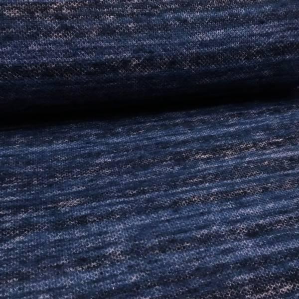 Bilde av Lett strikket ull - blå-sort-hvit melert