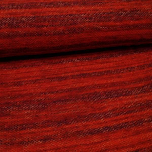 Bilde av Lett strikket ull - rød-sort melert