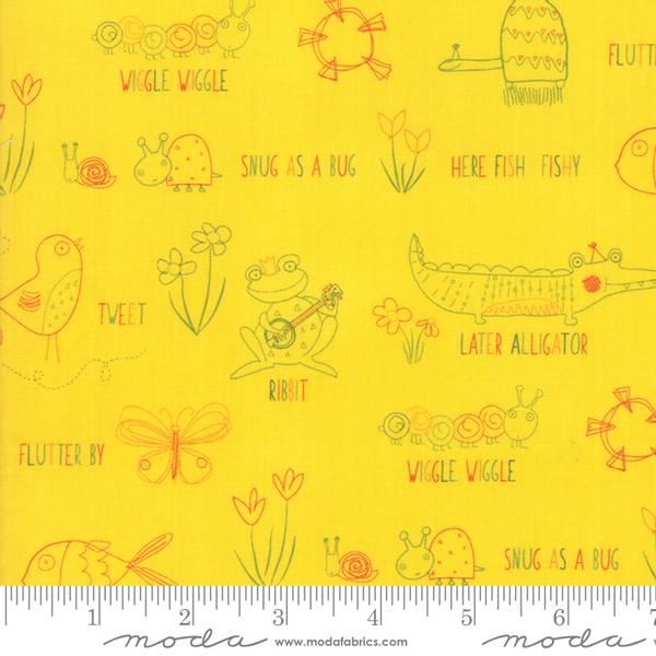 Bilde av Later Alligator - 2-4 cm dyr på gul