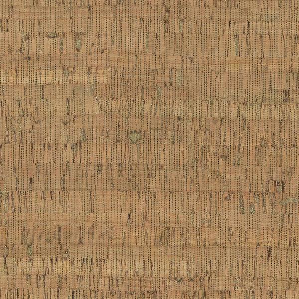 Bilde av Kork metallic - natur m tynne gull streker