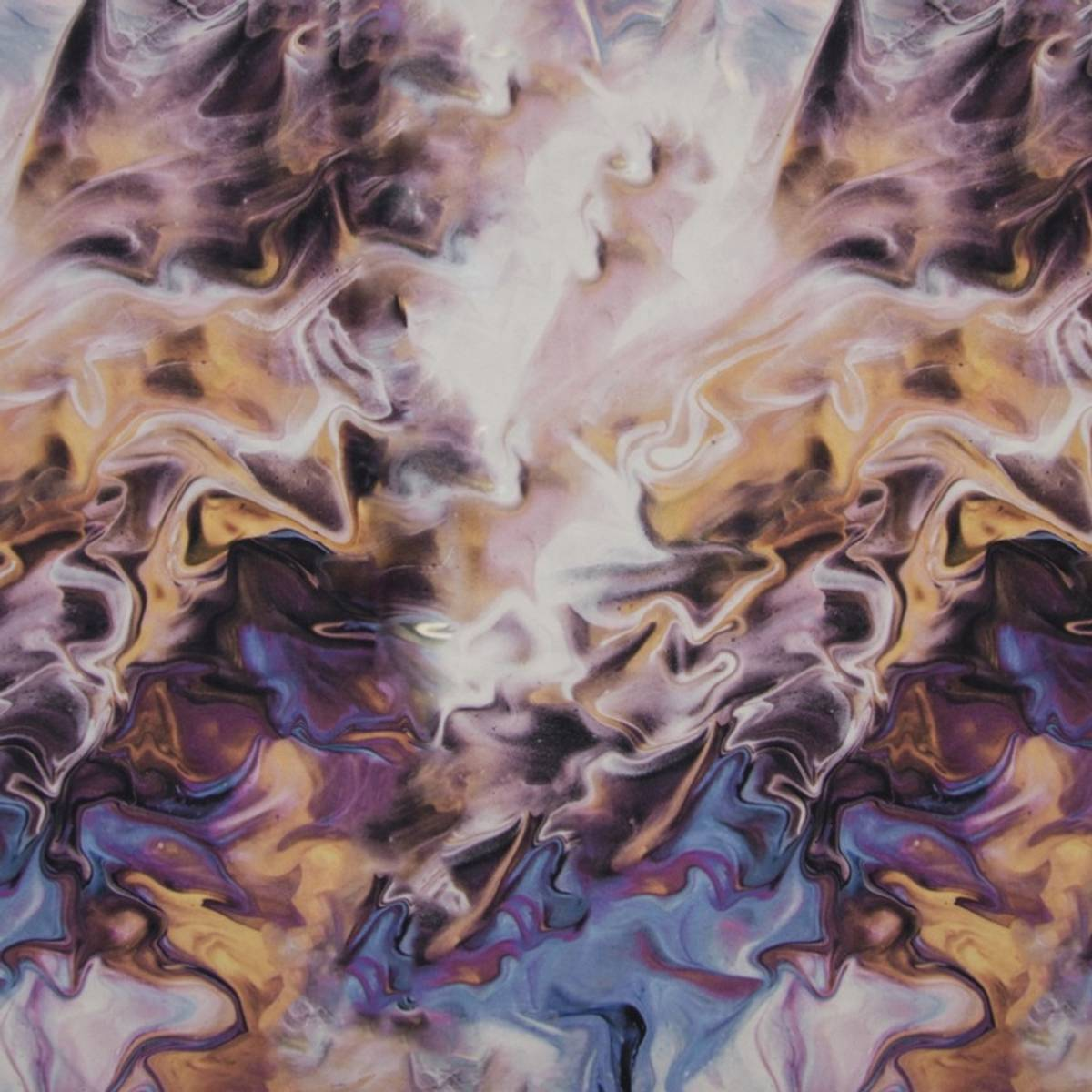 50 cm Yoga Stretchjersey - marmorert fargeeksplosjon