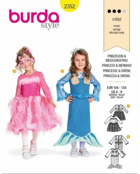 Bilde av 2352 - Burda - kostymer havfrue & prinsesse - barn