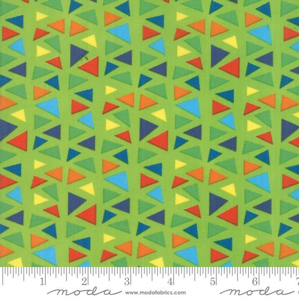 Bilde av 50 cm Later Alligator - 1 cm flerfargete trekanter på grønn