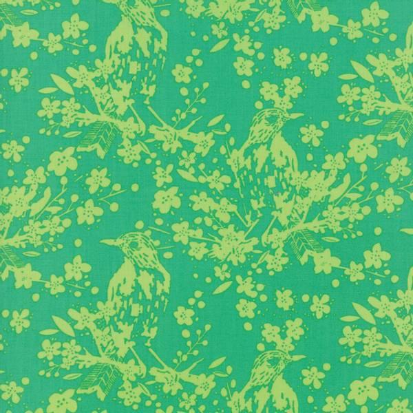 Bilde av Painted Garden - 10-13 cm fugl på kvist motiv på grønn