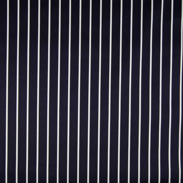 Bilde av Bomullsateng m stretch - marine-hvite striper