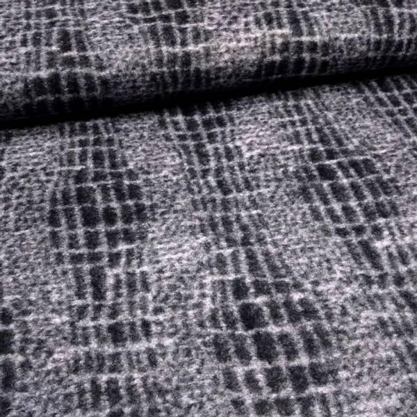 Bilde av Tovet strikket ull - blå-grå krokodillemønster