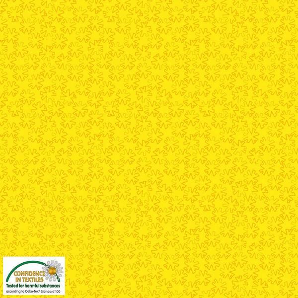 Bilde av Gradiente - 1cm grafiskgul blomst på gul