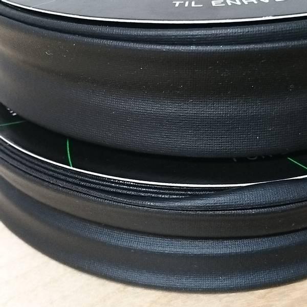 Bilde av Jersey kantbånd - 25 mm sort coated