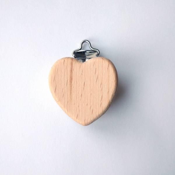 Bilde av Seleklips - hjerte i tre, 4 cm